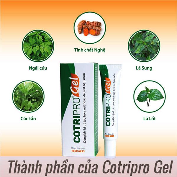 Thành phần của Cotripro Gel