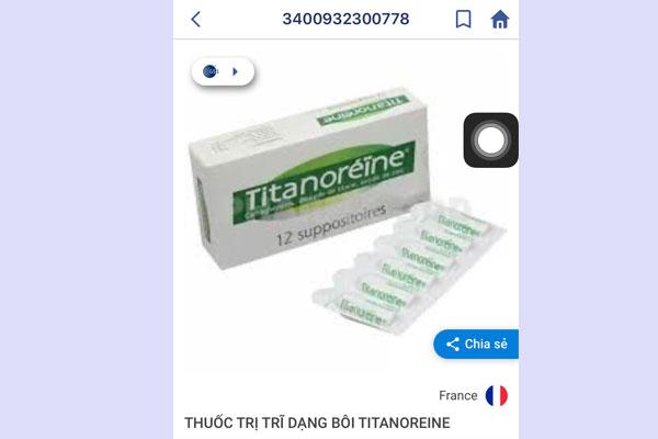 Mã vạch của viên đặt Titanoreine