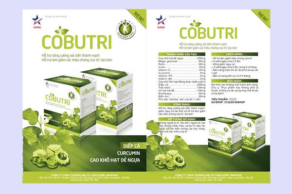 Minh họa: Thông tin trên bao bì của Cobutri