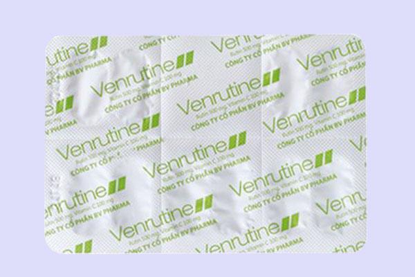 Tác dụng thành phần của Venrutine 500mg