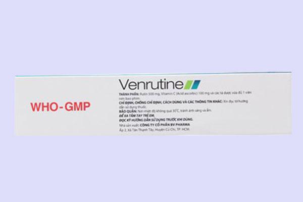 Thận trọng khi sử dụng thuốc Venrutine 500mg