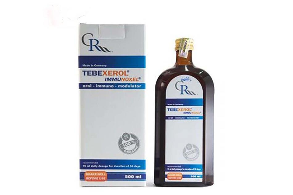 Hình ảnh hộp và chai Tebexerol Immunoxel